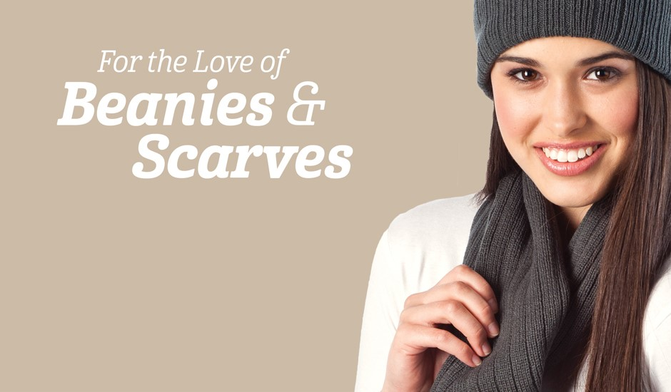 winter beanies and scarves