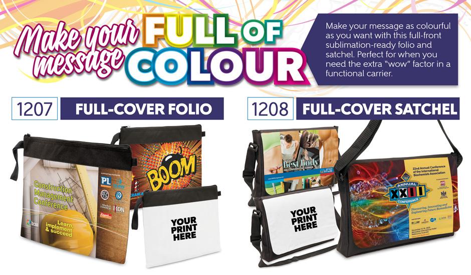 Full colour sublimation conference satchel