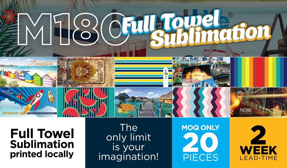 Full colour sublimation Towel